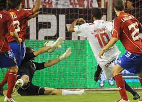 El Sevilla llega al choque de Pamplona con mucho ánimo tras las victorias ante Zaragoza y Unirea