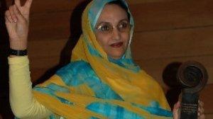 La activista saharaui regresaba de Nueva York, tras recibir el 'Premio Coraje Civil 2009' de la Fundación Train