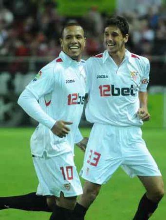 Luis Fabiano y José Carlos fueron los jugadores más destacados del encuentro/SevillaFC
