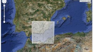 Ejemplo de cartografía de la exposición de la biblioteca general.