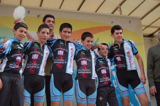 Equipo de cadetes de la Escuela Municipal de Ciclismo de Morón /SA