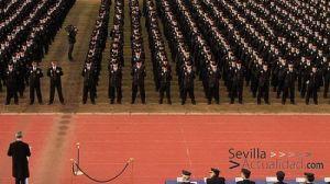Los servicios religiosos de la Jefatura Superior de la Policía Nacional de Sevilla organizan este acto de exaltación a la Semana Santa/Juan C. Romero