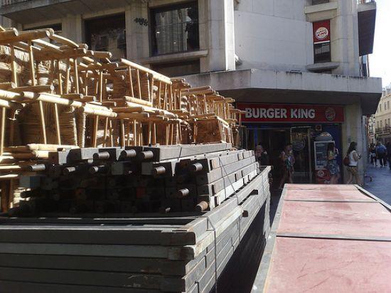 El montaje de las sillas en la Campana ya ha comenzado/Rubén Díaz en Flickr