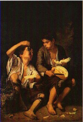 Cuadro 'Dos muchachos comiendo melón y uva'