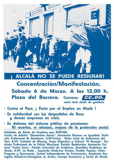 Sábado 6 de marzo a las 12,00 en la Plaza del Barrero.
