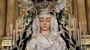 La Virgen de la Soledad, patrona y alcaldesa perpetua de Cantillana, es anónima y data de mediados del siglo XVI/Hermandad de la Soledad