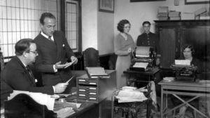 Sucursal de la caja de ahorros en 1959/SA
