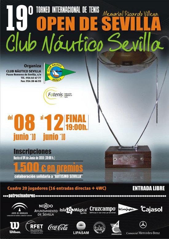 La décimononovena edición del Open de Sevilla arranca hoy al mediodía. En la foto, el cartel de este año.