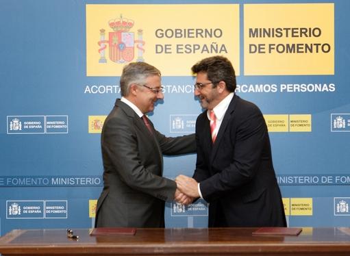 El minsterio de Fomento aporta a las obras un 75% del coste final/Agencia.