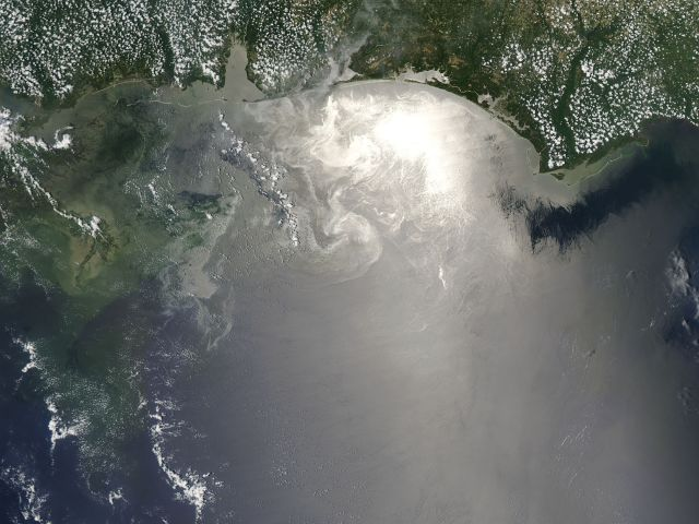 El vertido se ha convertido ya en la mayor catástrofe ecológica de los Estados Unidos/Nasa
