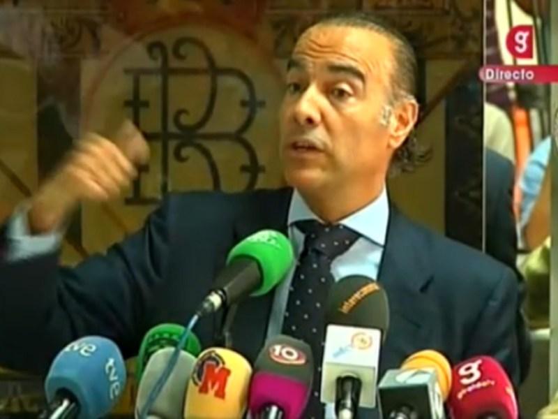 Luis Oliver, en la rueda de prensa de esta tarde/Giralda TV