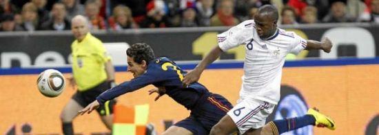 Jesús Navas, en un partido amistoso contra Francia/sevillafc