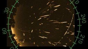 La imagen es una visualización de las Perseidas el año pasado/Chris Peterson. Cloudbait Observatory