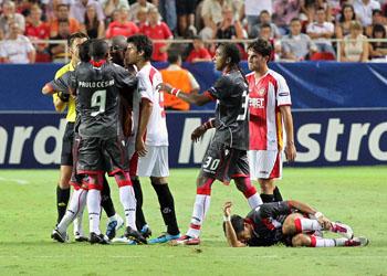 Decepción en el plantel sevillista por la eliminación/SevillaFC
