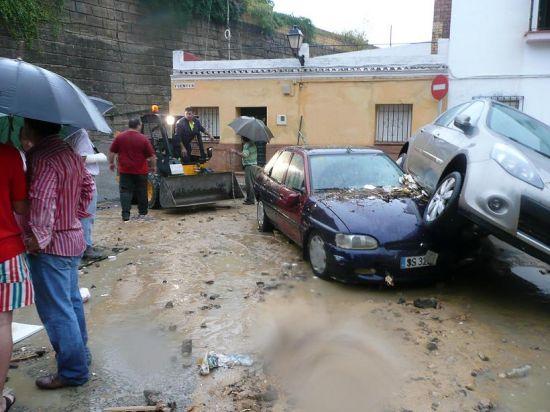 En Sanlúcar la Mayor se registraron 50 litros por metro cuadrado en tan sólo 40 minutos