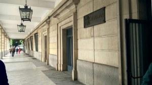 Fachada de los actuales juzgados de la capital, en el Prado