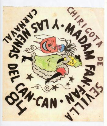 Boceto de 'Madam Fan-Fan y las nenas del Can-Can'