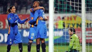 Los jugadores del Sevilla celebrando un gol en el pasado encuentro frente al Karpaty /SevillaFC