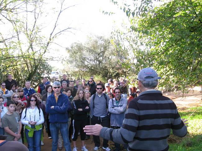 Los senderistas salieron a comprobar el estado de conservación del paraje natural