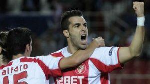 Álvaro Negredo marcó un gol y participó en otros dos/Sevilla FC