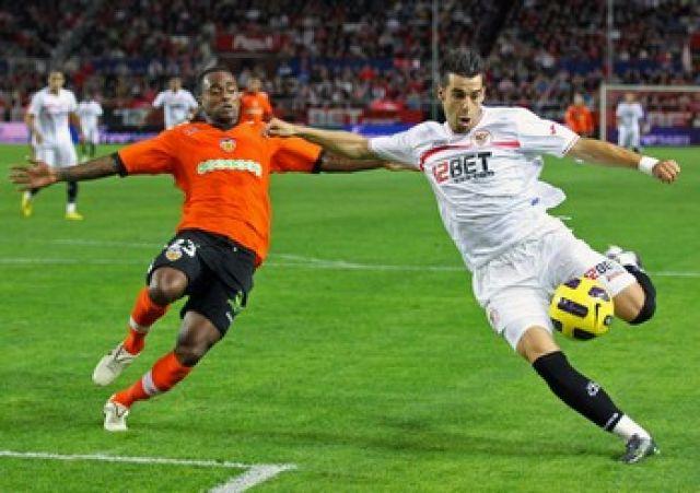Álvaro Negredo abrió el marcador en la primera parte/Sevilla FC