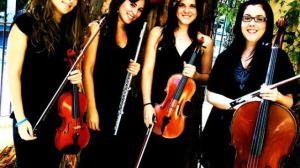 El Cuarteto de flauta y cuerda, constituido por Aída Naranjo, Laura Rubiales, Ester Casado y Mª Pilar Rueda