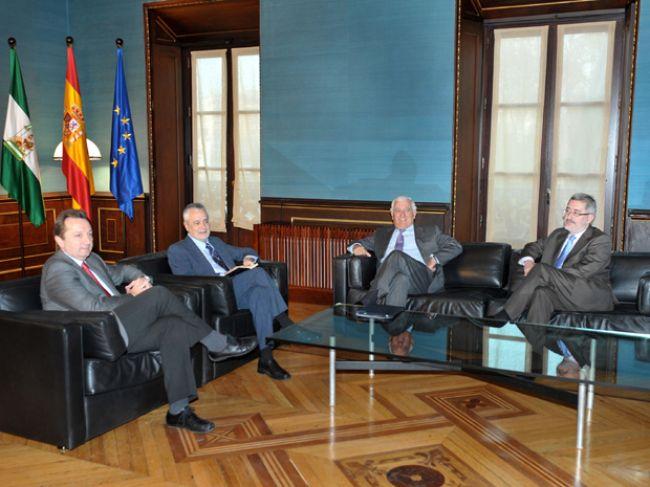 Griñán seguirá su ronda de contactos, ahora, con los sindicatos UGT y CCOO
