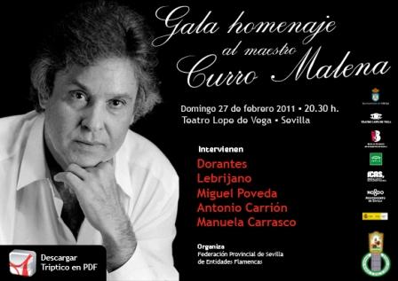 El cartel del homenaje está cargado de artistas como Miguel Poveda