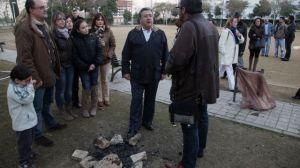 Zoido durante su visita al parque de la estrella de Pino Montano