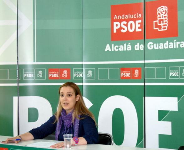 Ana Isabel Jiménez, en la rueda de prensa de ayer
