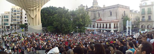 Panorámica desde las plaza mayor de la Encarnación/@urochiken