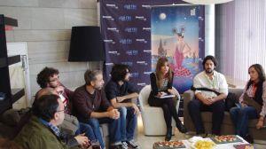 Enciso ha presentado su película en una rueda de prensa informal/Ángel Espínola