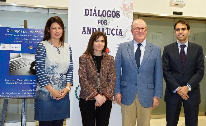 Los ponentes del Foro Diálogos por Andalucía dedicado a internet y la violencia de género / Sevilla Actualidad