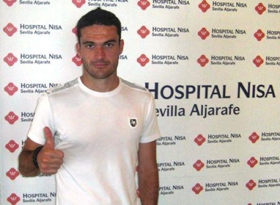 Jorge Molina fue sustituido al descanso del partido en el Camp Nou / REAL BETIS
