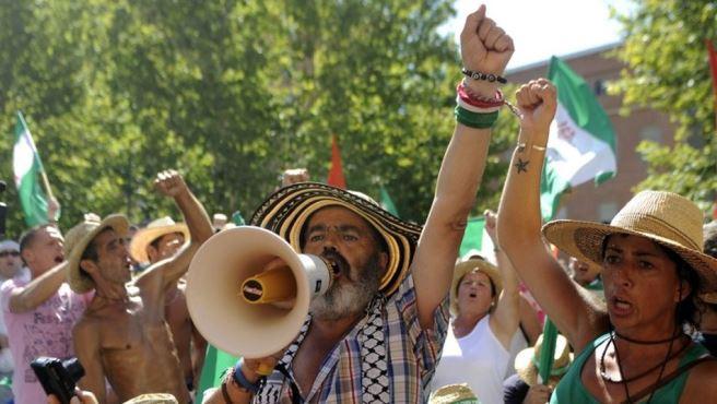 El diputado Juan Manuel Sánchez Gordillo declaró ante el TSJA por la ocupación de la finca Las Turquilla el verano pasado / Agencias