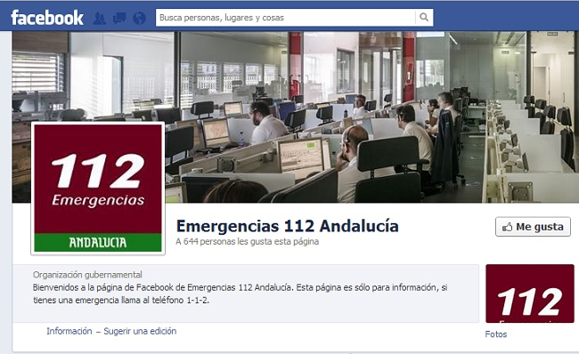 emergencia 112 facebook