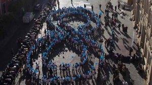 El acto simbólico se ha realizado esta mañana en la Plaza de San Francisco/Pepo Herrera