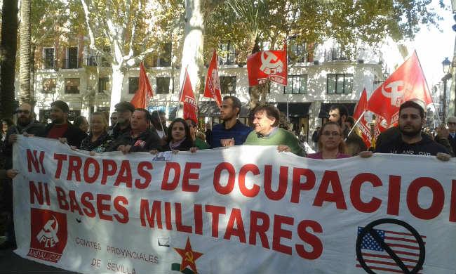 manifestacion contra la guerra