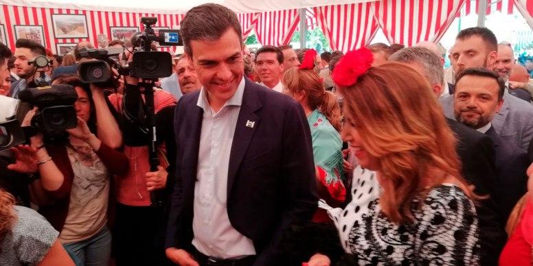 Pedro Sánchez y Susana Díaz en la Feria 2018 /SA