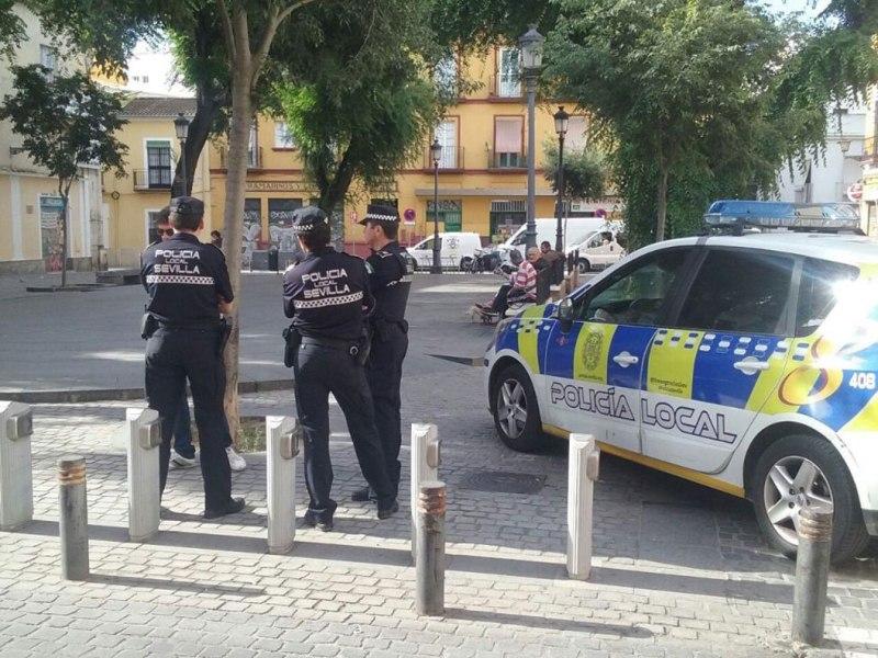 Refuerzo policial en el Pumarejo /Ayto. Sevilla
