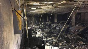 El garaje quedó completamente destrozado tras el incendio /Ayto. Lebrija