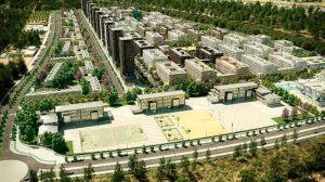 Recreación virtual del proyecto urbanístico en Palmas Altas Sur /Metrovacesa