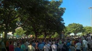 Asamblea de taxistas este lunes en Sevilla /@Alejandrosanmo