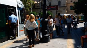 Un hombre sufre un infarto en el tranvía en Plaza Nueva /Ayto. Sevilla