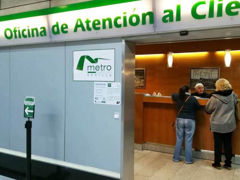 Una de las oficinas de atención al cliente del metro /Metro de Sevilla