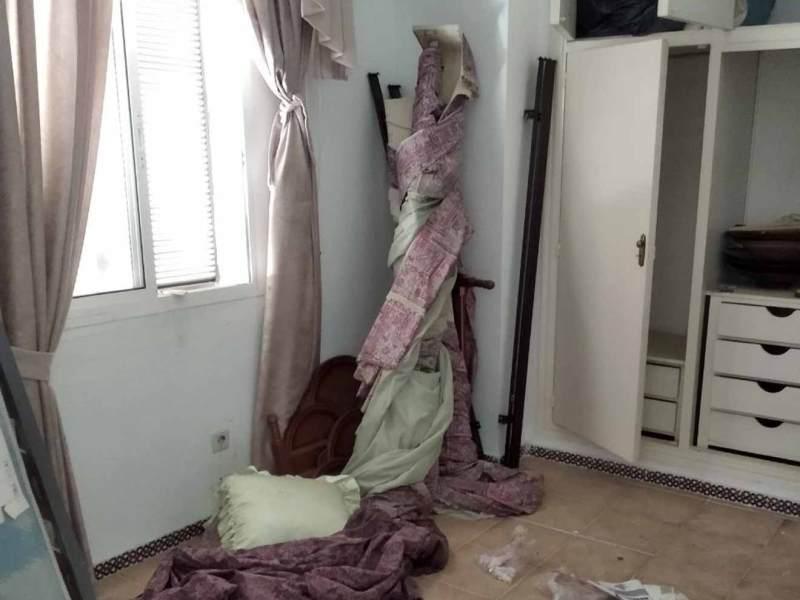 Una de las casas vandalizadas /Cedida