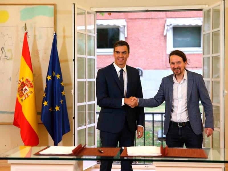 Sánchez e Iglesias acuerdan el pacto / PSOE