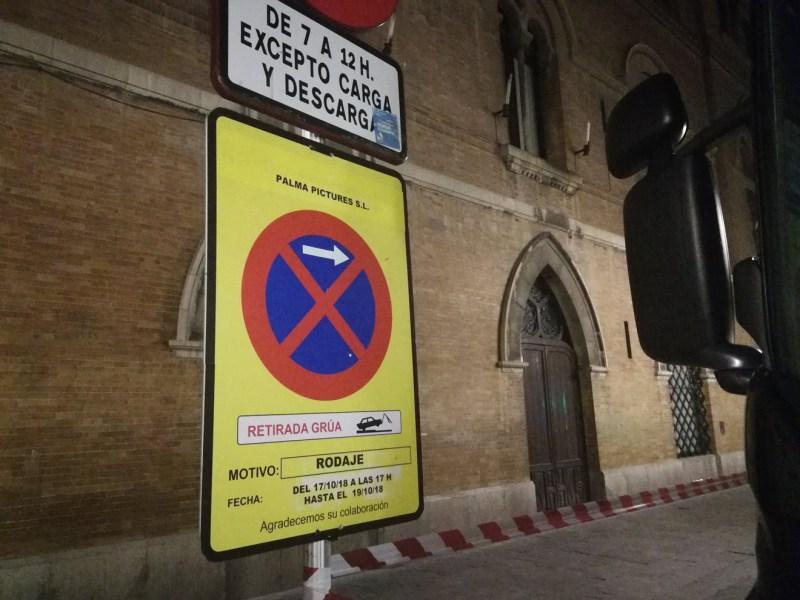 Aviso del Ayuntamiento por el rodaje / MR