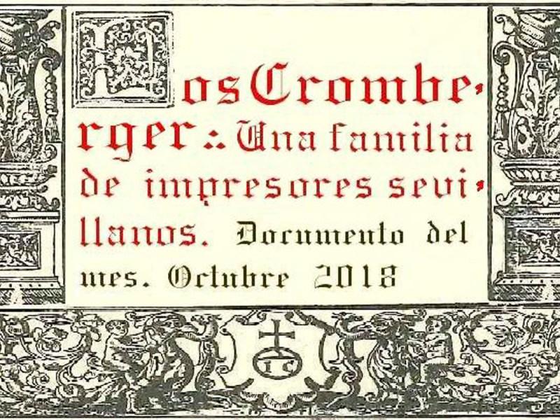 Portada 'Los Cromberger'/Junta de Andalucía