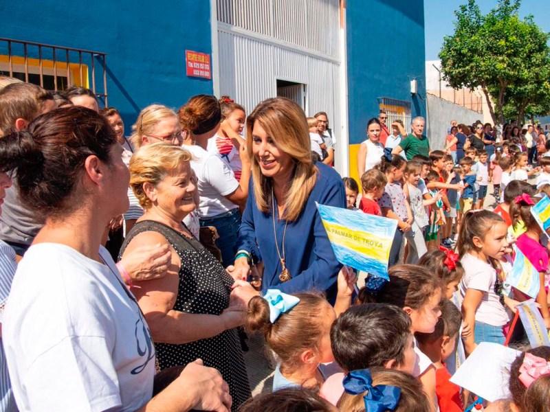 Visita de Susana Díaz a El Palmar de Troya /@susanadiaz